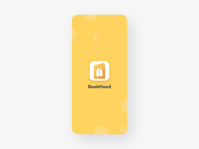 Book sharing app Design yellow clean uiux ux ui logo concept onboarding login illustration mobile app mobile design app share books
