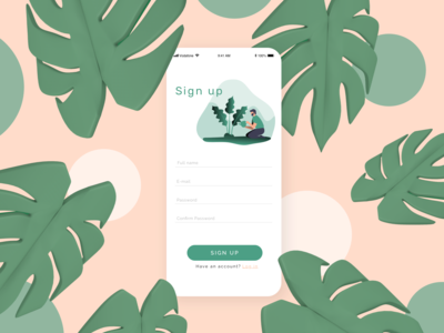 Daily UI 001 | Sign-up Page | iPlant