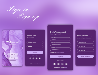 Sign in & Sign up Page sign up ui sign in ui ux log in ui log in sign up sign in ui app ux daily ui app ui ui ux design dark design daily design app design