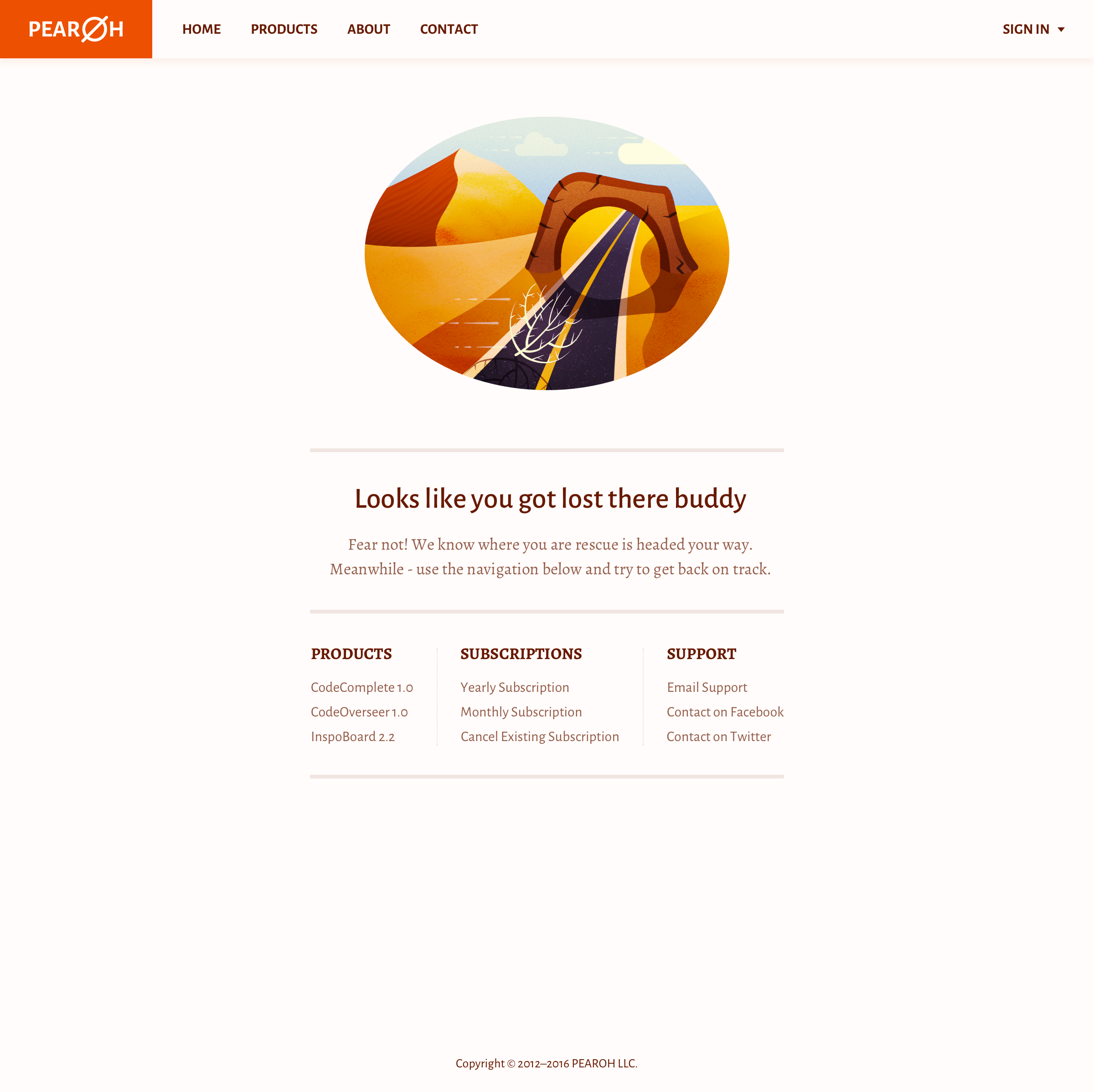 Pearoh landing page
