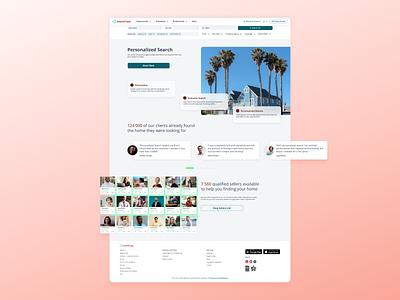 Personalized Search — Landing page landing page uxui desktop site real estate figma ux ui