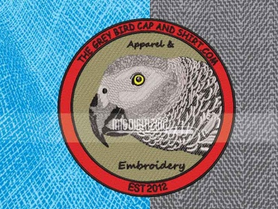 Parrot Embroidered Patch Digitiziting Services | Migdigitizing logo for print logo digitizing cheap embroidery patches order embroidery patches embroidery patches embroidered patches custom patches