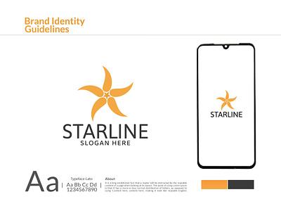 Starline - Brand Identity star-logo starline star business-logo logos branding brand-identity branding-logo brand-logo brand logo-design