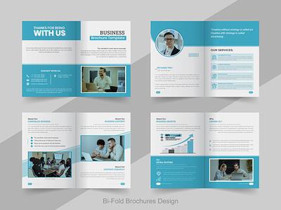 Bi Fold Brochure Design menu banner clean minimal branding graphic print design business flyer corporate business card corporate bi fold brochure brochures brochure