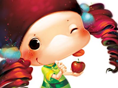 Apple Cute illustration xnhan00 children books apple