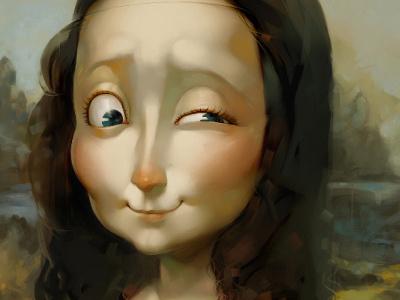 Mona Lisa mona lisa caricature xnhan00 illustration
