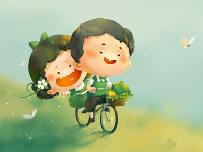 Couple comic books cute xnhan00 illustrations cards