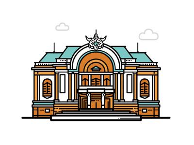 Municipal Theatre municipal theatre traveller viet nam graphic design saigon hello saigon