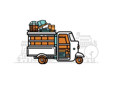 """ Xe Lam "" xe lam traveller viet nam auto rickshaws hello saigon graphic design saigon"