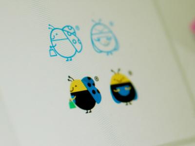 Ladybug mascot ladybug bookbuy mascot logo redesign ladybugs