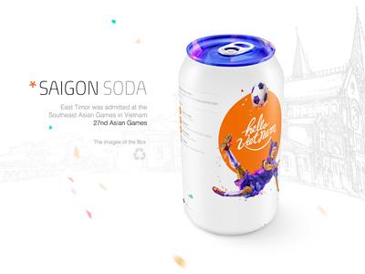 Saigon Soda saigon soda applied art hello viet nam product packaging design.