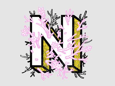 """ N "" n typography xnhan00 alphabet font"