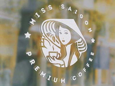 Miss Saigon character illustration package branding miss saigon logo coffee xnhan00