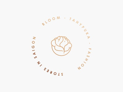 Bloom Logo flowerlogo vintage brand creative cute portfolio roses branding graphicdesign fashionlogo bloom