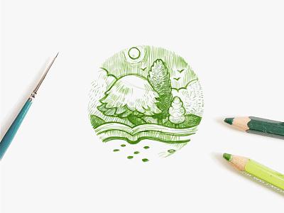 Kira Kira  branding green sketch logo xnha00