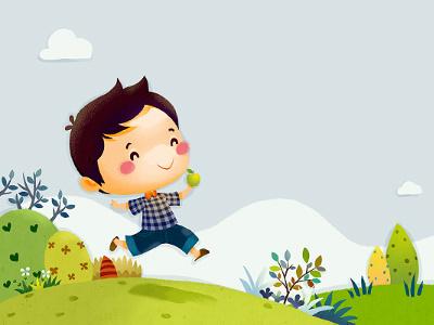 Apple xnhan00 apple illustration childrens book