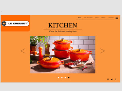 LE CREUSET - website redesign (Orange concept)