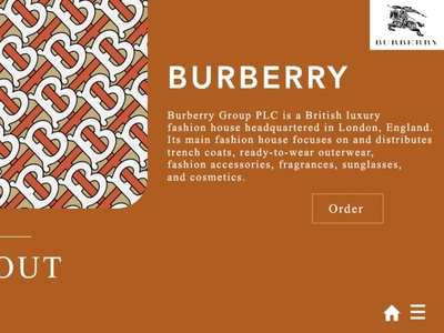 BURBERRY redesigned webpage cover