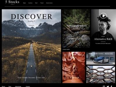 Web/Magazine/Blog Layout contents