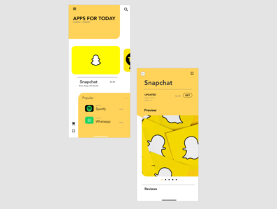 Mobile Appstore design/ Banana Concept