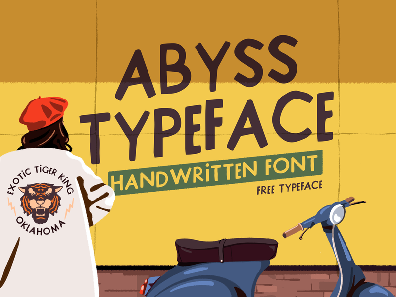Abyss - Free Font lettering brush fagostudio people ambiant character graphicdesign illustration font freefont typogaphy