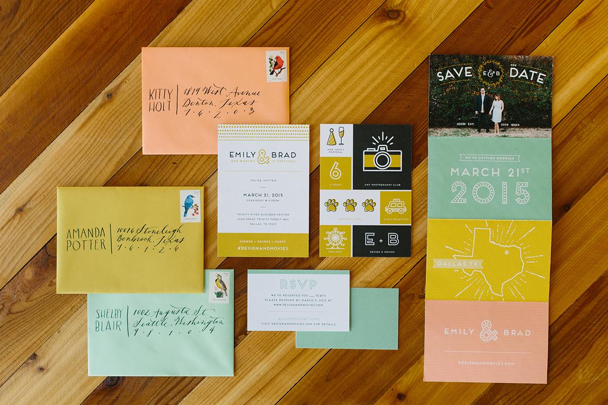 Emilyholt Wedding Invitation Graphic Design