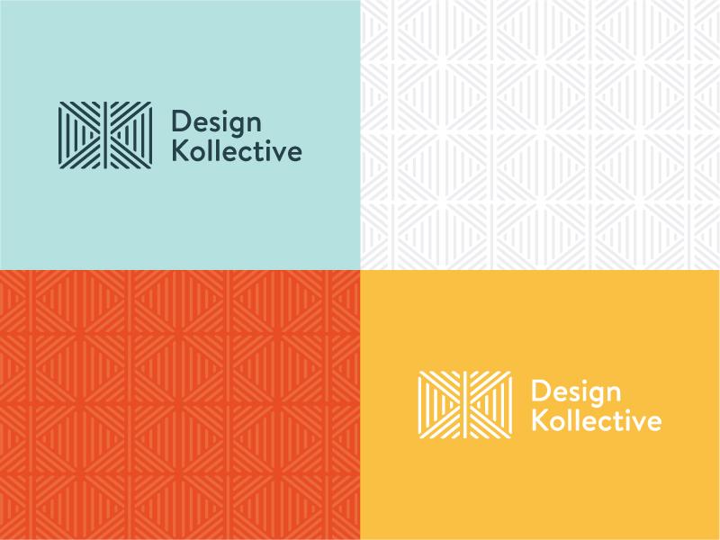 Design Kollective Logo furniture identity brand logo pattern