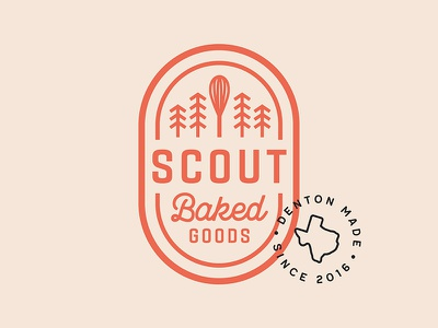 SCOUT Logo identity logo denton whisk badge stamp scout bakery