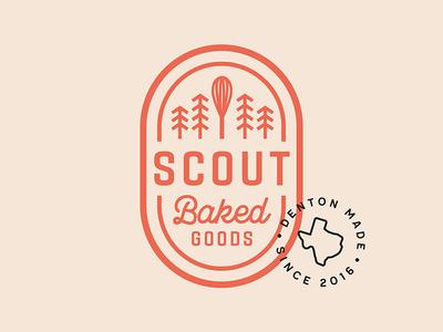 SCOUT Logo identity logo denton whisk badge stamp scout bakery