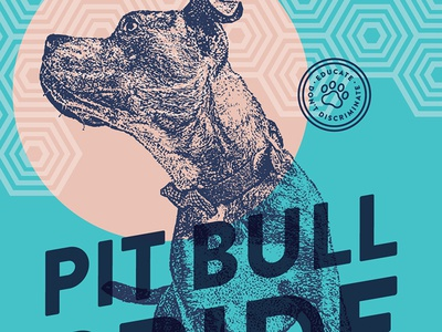 Pitbull Pride Poster pattern rescue dog pitbull poster