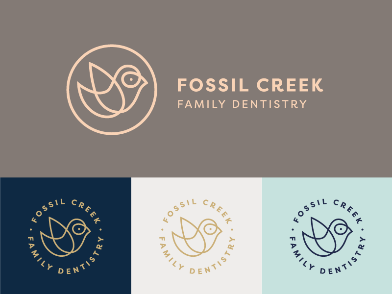 Logo Graveyard: Family Dentistry dentistry dentist high-end luxury finch circular brand identity logo bird