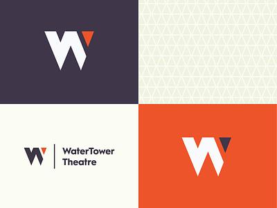 WTT - Theatre Rebrand addison theatre geometric identity branding logo triangle lettermark w
