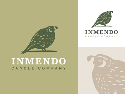 Logo Graveyard: The Chubbiest Quail luxury candle bird identity branding logo quail
