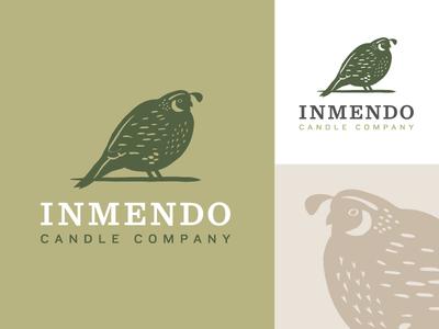 Logo Graveyard: The Chubbiest Quail luxury candle bird identity branding logo quail