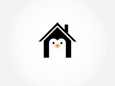 Penguin - WIP penguin home house logo