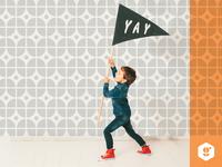 Gather wallpaper kid children branding pattern logo
