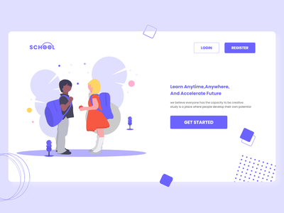 Landing-Page minimalist icon vector illustration webdesign adobexd design web typography user interface design ux ui