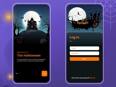 Halloween  Log in icon graphic design website animation ui ux illustration design landing page d web mobile app log in