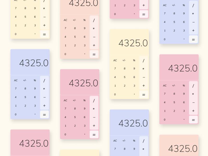 Daily UI - Calculator web ui design webdesign uidesign daily 100 challenge