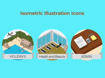 Isometric View Illustration Icons