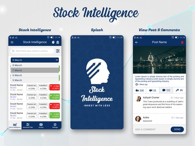 Stock Intelligence App UI