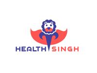 Health Singh Flat Vector Logo Design
