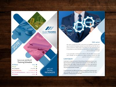 Olum Training Brochure Design illustration graphics brochure brochure layout brochure template brochure design branding flat design photoshop vector illustrator graphic design