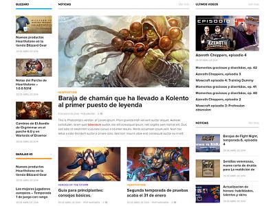 Blog layout 3 columns three columns blog magazine news gaming white
