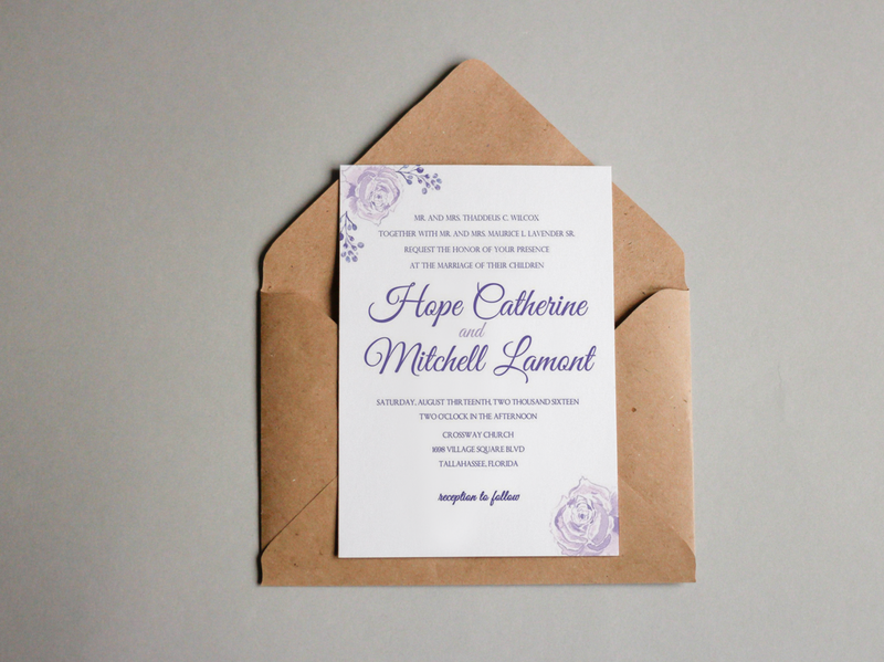Let's Get Married wedding invitation design
