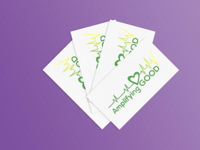 Amplifying Good Business Card branding logo design nonprofit