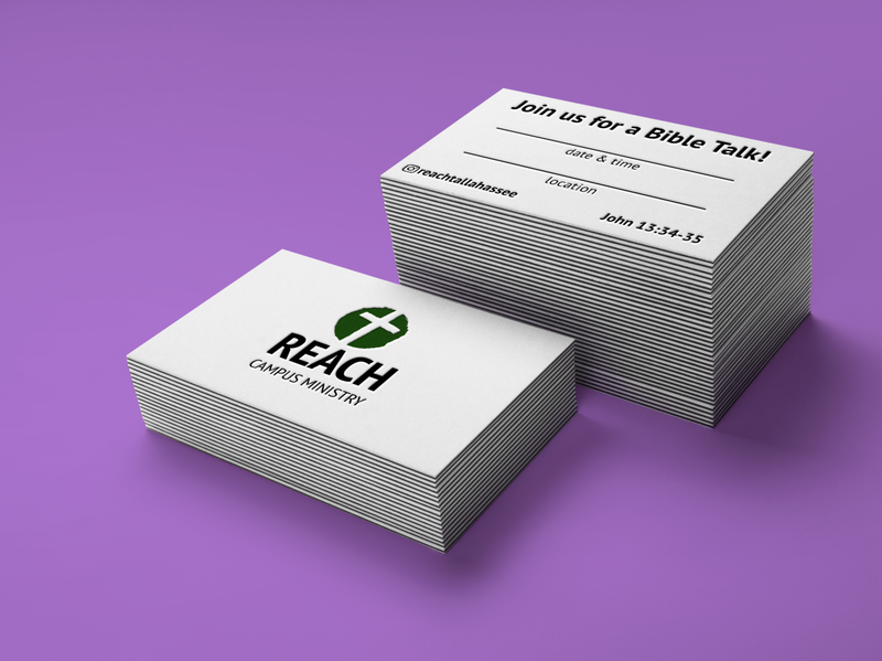 Reach Campus Ministry Invite Card ministry invite branding
