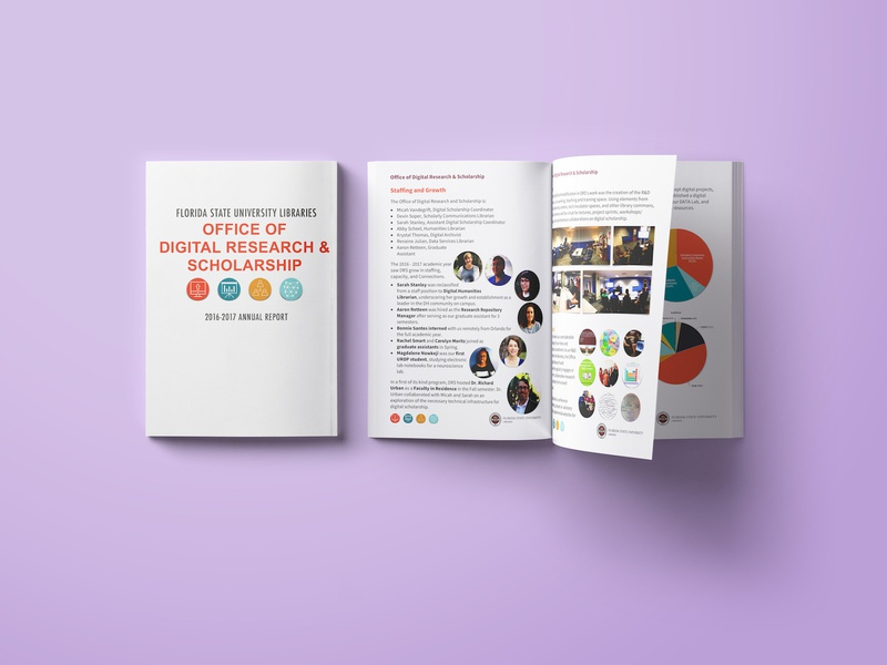 FSU DRS Annual Report purple branding template rebrand