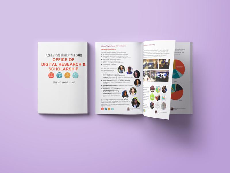 FSU DRS Annual Report purple branding template rebrand