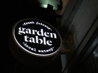 Garden Table blade sign